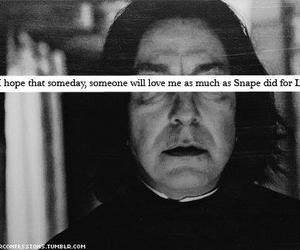 love, harry potter, and snape image