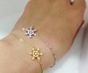 bracelets, snowflakes, and fashion image