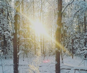 snow, sun, and sunshine image