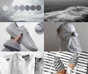 grey, hair, and shoes image