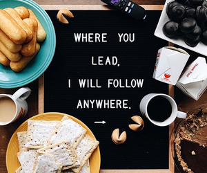 follow, love, and food image