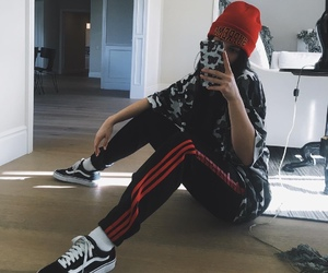 kylie jenner, vans, and outfit image