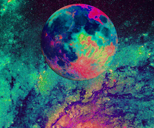 moon, art, and colors image