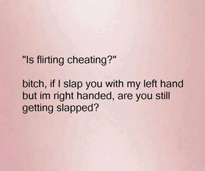 slap, cheating, and bitch image