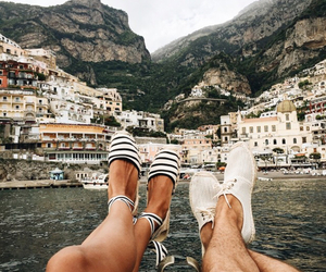 travel, couple, and shoes image