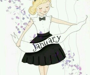 balloons, january, and art image