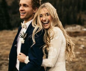 wedding, love, and woman image