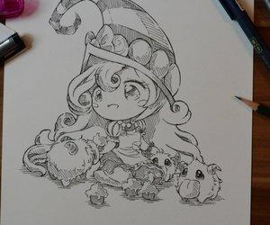 art, draw, and lol image