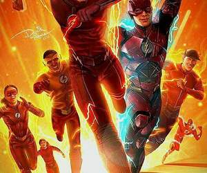 the flash, wally west, and barry allen image