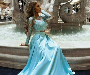 beauty, blue, and chic image