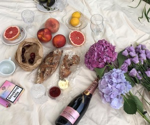 food, flowers, and fruit image