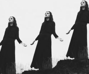 black and white, black, and witch image