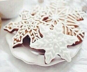 Cookies, snowflakes, and winter image