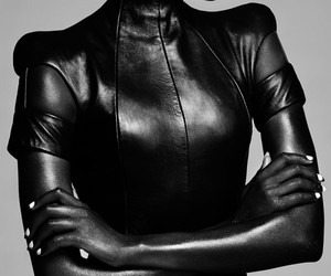 2, black and white, and black leather image
