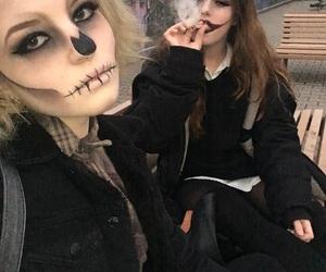 bad, makeup, and cigarette image
