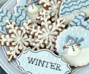 biscuits, christmas, and winter image