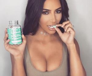 beautiful, kim kardashian, and makeup image