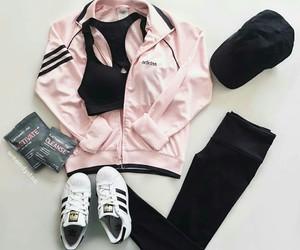 adidas, black, and fashion image