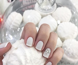 art, nails, and snow image