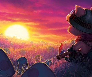 teemo, league of legends, and mushroom image
