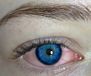 blue, cry, and red eyes image
