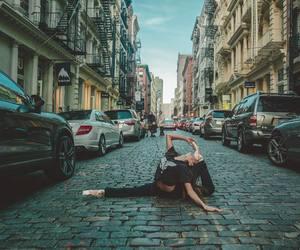 dancer, girl, and split image