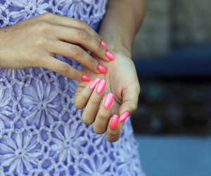 nails, dress, and girl image