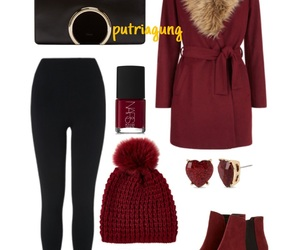 beanie, boots, and christmas image