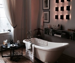 home, bathroom, and bath image