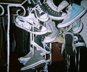 converse, retro, and shoes image