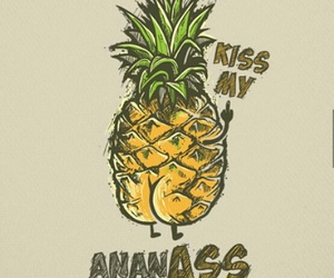 bold, pineapple, and text image