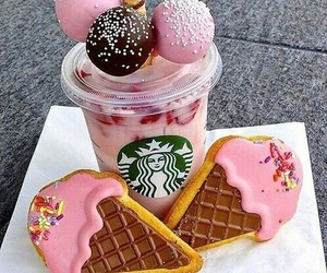 starbucks, food, and pink image