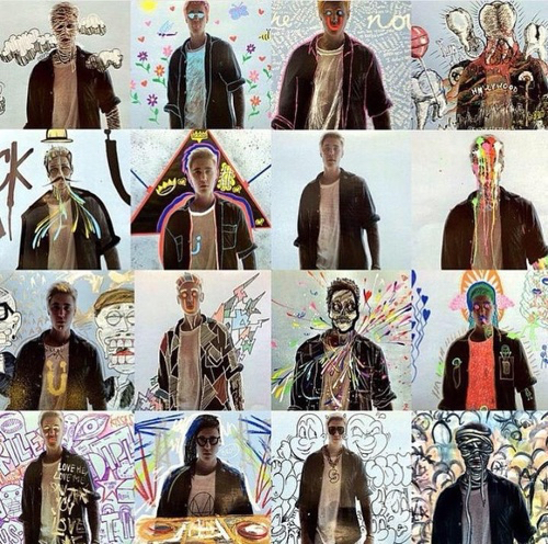 art, music video, and justin bieber image