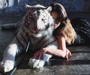 animal and girl image
