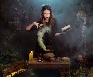 witch, magic, and candles image