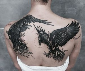 raven, ravens, and Tattoos image
