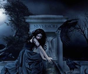 angel, couple, and dark image