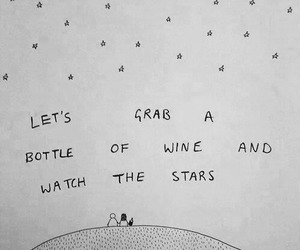 stars, quotes, and wine image