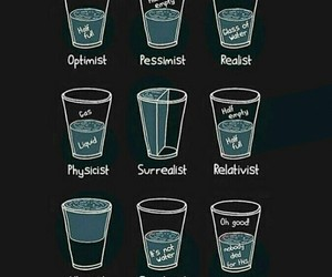 realist, optimist, and water image