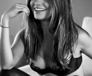 Mila Kunis, sexy, and black and white image