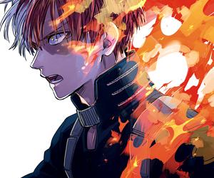 anime, shouto todoroki, and anime boy image