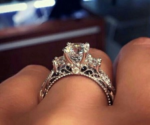 diamond, ring, and girly image