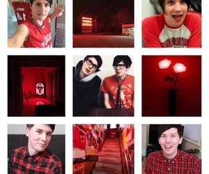 aesthetic, dan, and red image