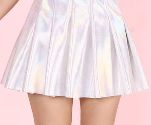 pink, skirt, and holographic image