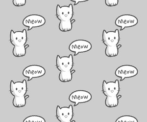 cat, meow, and pattern image