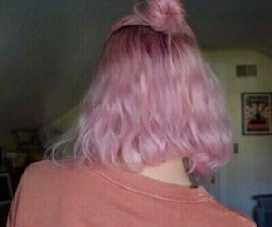 pink, hair, and grunge image