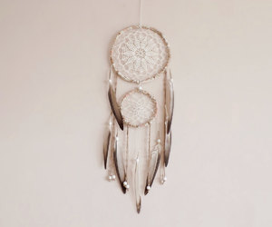 beaded, double, and dream catcher image