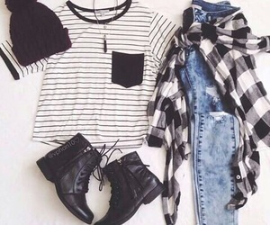 beautiful, clothes, and black image