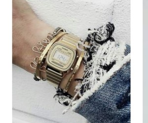 bracelet, casio, and denim image