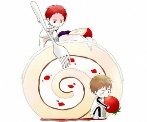 yaoi, kuroko no basuke, and akafuri image